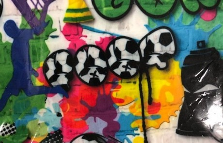 Voetbal Graffiti
